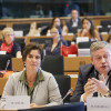 Während der konstitutiven Sitzung des Frauenausschuss mit meinem belgischen Kollegen  Marc TARABELLA