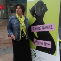 Zusammen mit der Europäischen Frauenlobby für die Wiederaufnahme der Mutterschutzrichtlinie