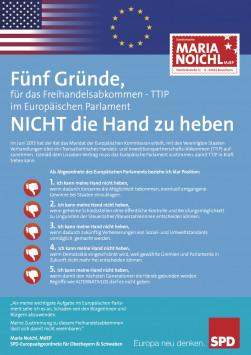 Fünf Gründe, für das Freihandelsabkommen mit den USA im Europäischen Parlament nicht die Hand zu heben 2015