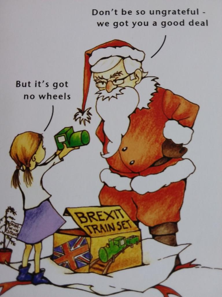 Brexit Weihnachtskarte